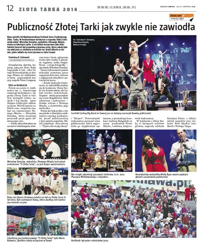 Gazeta Iławska - Mirosław Deredas ZŁOTA TARKA