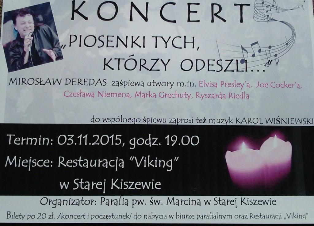"""Mirosław Deredas - koncert pt. """"PIOSENKI TYCH, KTÓRZY ODESZLI"""""""