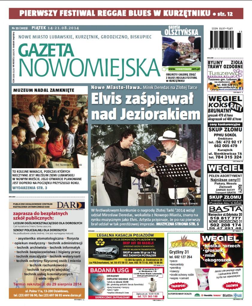 ZŁOTA TARKA 2014 - Mirosław Deredas